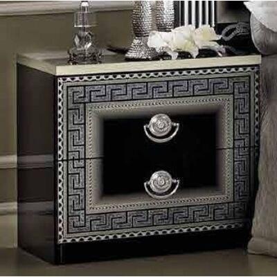 Éjjeliszekrény - fekete-ezüst