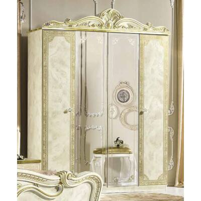 4-ajtós szekrény, 2 tükrös ajtóval