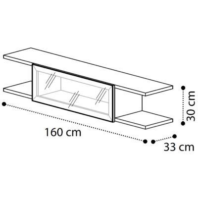 Híd elem üvegajtóval