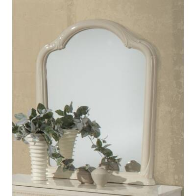 Díszes tükör - bézs