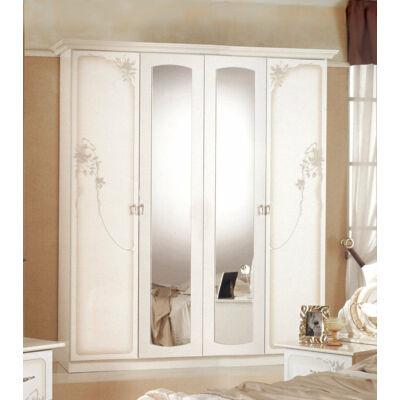 4-ajtós szekrény, 2 tükrös ajtóval - bézs