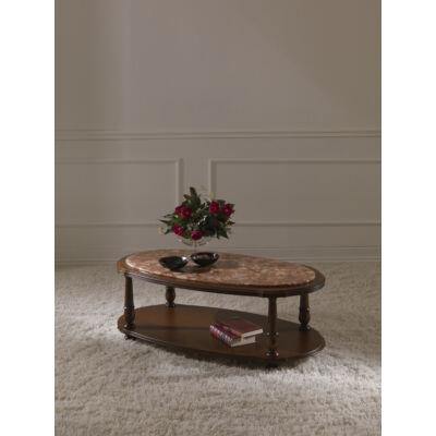 Savona - ovális kisasztal márványlappal - bézs vagy rózsaszín
