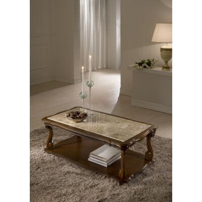 Ben - betétes kisasztal fa felülettel