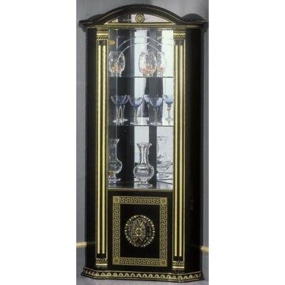 1-üvegajtós tálalószekrény (jobbra vagy balra nyíló) - fekete-arany