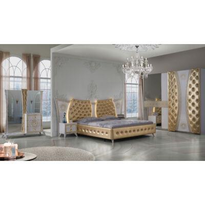 Delizia klasszikus olasz stílusú hálószoba garnitúra, fehér-arany színben