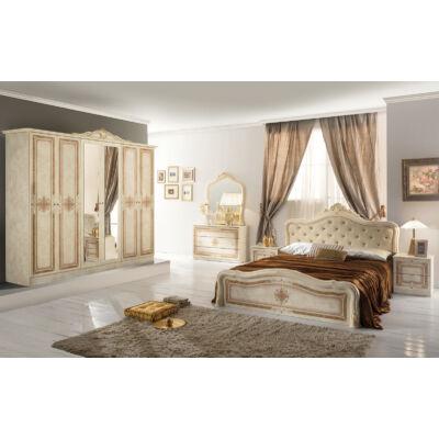Luisa klasszikus olasz stílusú hálószoba garnitúra, bézs színben