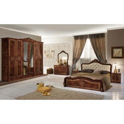 Luisa klasszikus olasz stílusú hálószoba garnitúra, dió színben