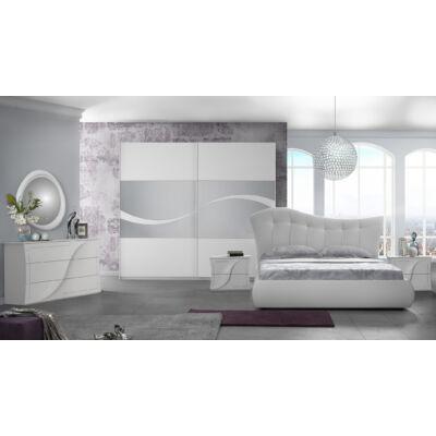 Mabel klasszikus olasz stílusú hálószoba garnitúra, fehér színben