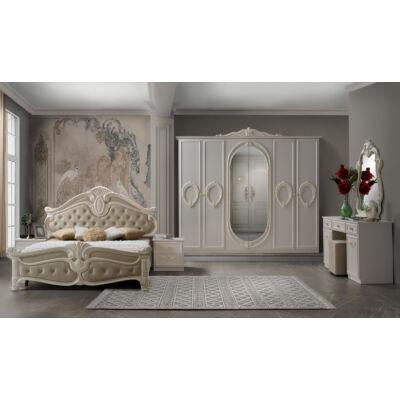 Nora klasszikus olasz stílusú hálószoba garnitúra, tojáshéjszín színben