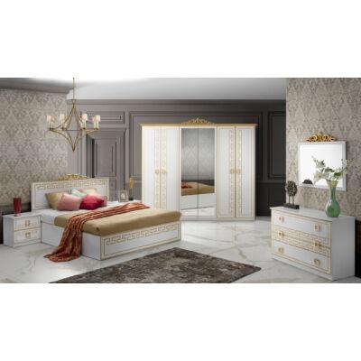Olimp klasszikus olasz stílusú hálószoba garnitúra, fehér-arany színben