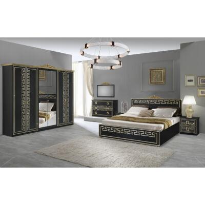 Olimp klasszikus olasz stílusú hálószoba garnitúra, fekete-arany színben