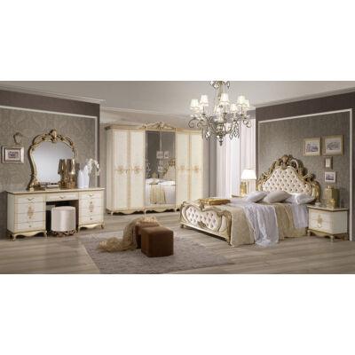 Tatjana klasszikus olasz stílusú hálószoba garnitúra, bézs színben