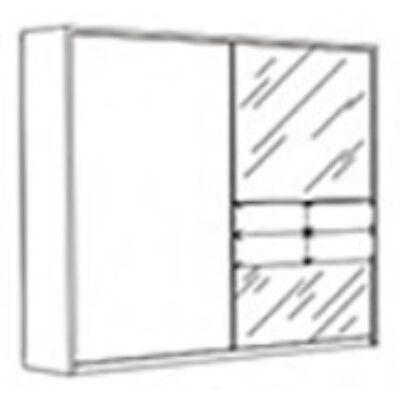Tijana szekrény 2 tolóajtós 220 cm