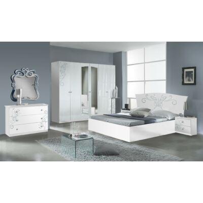 Butterfly modern olasz hálószoba garnitúra, fehér színben