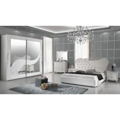 Giselle klasszikus olasz stílusú hálószoba garnitúra, fehér színben