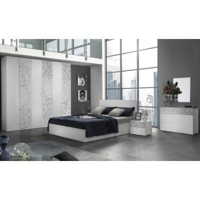 Patrizia modern olasz hálószoba garnitúra, fehér-márvány színben