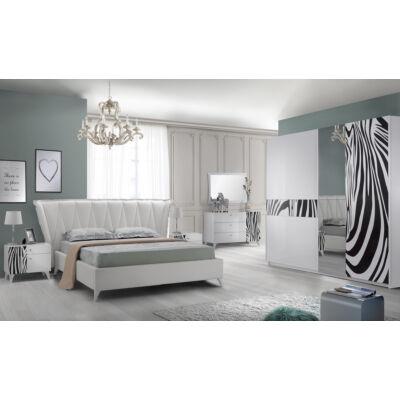 Savanna modern olasz stílusú hálószoba garnitúra, fekete-fehér színben
