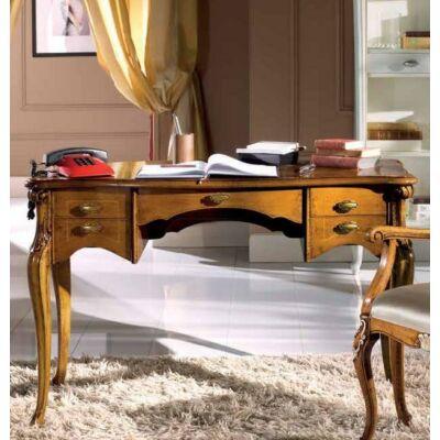 Íróasztal - fényes felületű Bassano stílusú antikoás, dió színben