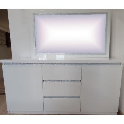 2-ajtós fiókos tálalókomód - fehér