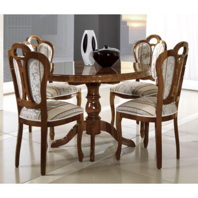 Kerek étkezőasztal 112x112 cm (+38 cm hosszabbítható) - dió