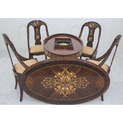 Köralakú tömörfa játékasztal