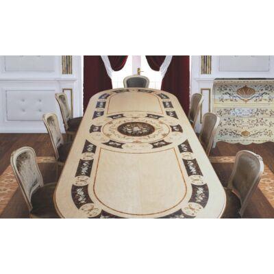 Ovális tömörfa asztal
