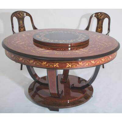 Tisztafa étkezőasztal