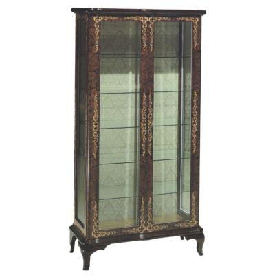 2-ajtós intarziás vitrin