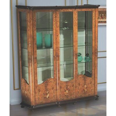 3-ajtós intarziás vitrin