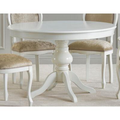 Kerek étkezőasztal tanganyika fa fedlappal, hosszabbítható