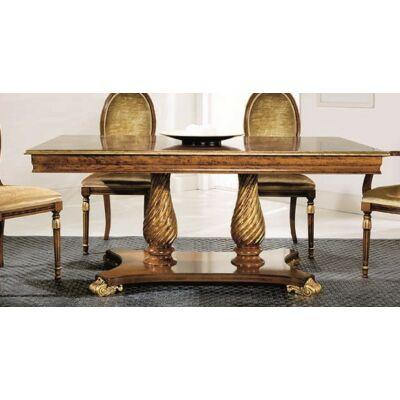 Vanity szögletes étkezőasztal, intarziás