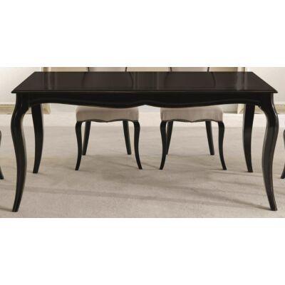 Tiffany szögletes étkezőasztal tanganyika fa fedlappal, hosszabbítható
