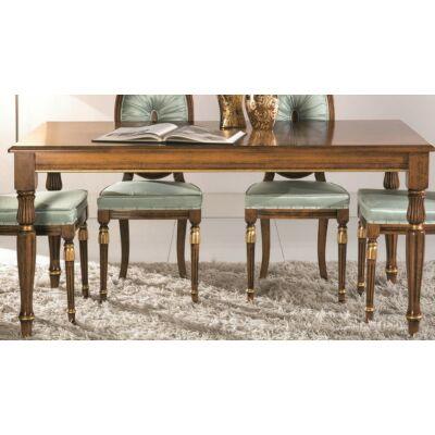 Cameo szögletes asztal intarziás fedlappal, hosszabbítható