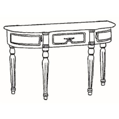 Pipereasztal - bézs