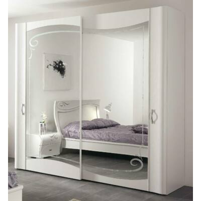 2 tükrös tolóajtós szekrény Swarovski kristályok nélkül, magasság: 225 cm