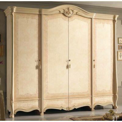 4-ajtós szekrény - bézs, magasság: 261 cm