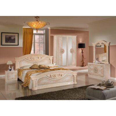 TL Roma hálószoba - bézs 160x200 cm ággyal, 4-ajtós szekrénnyel