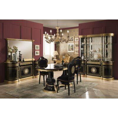TM Venus day olasz klasszikus étkező garnitúra, fekete-arany színben