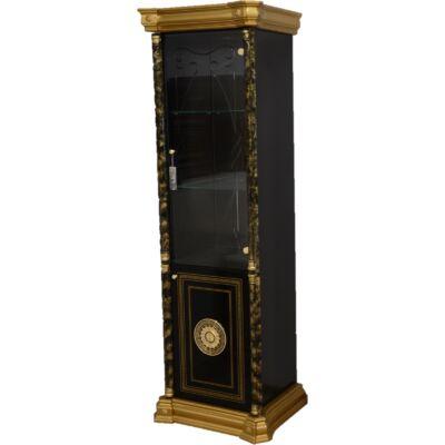 1-ajtós vitrines szekrény - fekete-arany