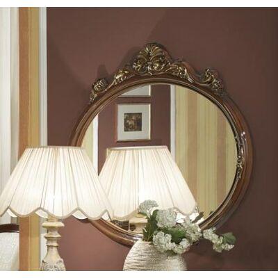 Díszes ovális tükör - dió